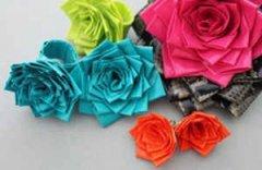 彩色胶带纸制作的玫瑰花创意手工制作教程