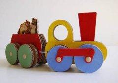 硬纸板做手工 硬纸板制作创意小火车玩具教程