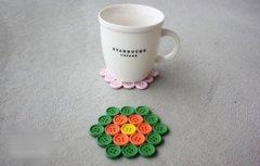 纽扣手工制作茶杯垫DIY教程