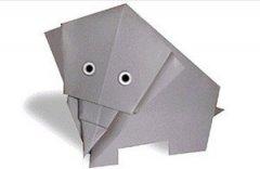 大象折纸怎么折 可爱小象手工折纸图片教程