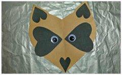 儿童动物手工制作贴纸 爱心狐狸头贴纸手工教程