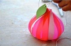 怎样手工制作小灯笼 可爱的桃子小灯笼手工教程