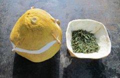 柚子皮的手工制作创意茶具器皿