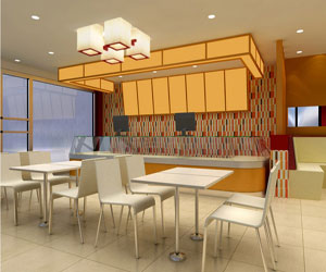 饭店大厅装修效果图