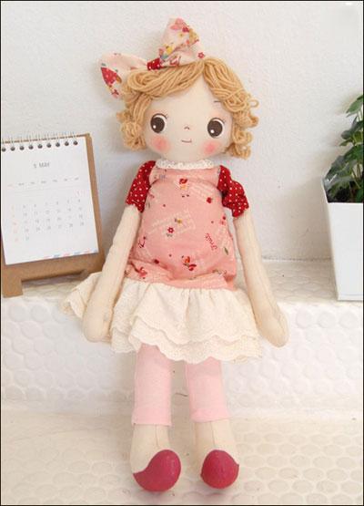 diy布娃娃制作 可爱布娃娃头发制作细节