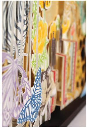 拼贴装饰画作品 精美漂亮的剪纸彩绘