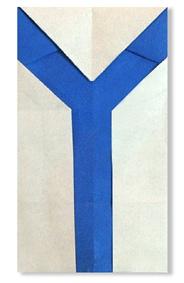 字母Y的折法